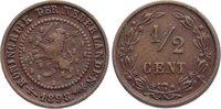 Cu 1/2 Cent 1898 Niederlande-Königreich Wilhelmina I. 1890-1948. sehr s... 25,00 EUR  zzgl. 3,50 EUR Versand