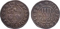 4 Mariengroschen 1669  AS Hannover, Stadt  sehr schön  50,00 EUR  zzgl. 3,50 EUR Versand
