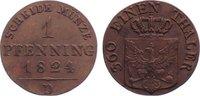 Cu Pfennig 1824  D Brandenburg-Preußen Friedrich Wilhelm III. 1797-1840... 20,00 EUR  zzgl. 3,50 EUR Versand