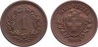 1 Rappen 1906  B Schweiz-Eidgenossenschaft  vorzüglich  30,00 EUR  zzgl. 3,50 EUR Versand