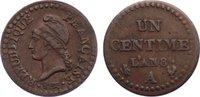 Cu 1 Centime AN 8 A Frankreich Erste Republik 1793-1799. sehr schön  110,00 EUR  zzgl. 3,50 EUR Versand