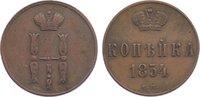 Cu Kopeke 1854  EM Russland Nikolaus I. 1825-1855. sehr schön  30,00 EUR  zzgl. 3,50 EUR Versand