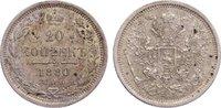 20 Kopeken 1880 Russland Alexander II. 1855-1881. fast vorzüglich  25,00 EUR  zzgl. 3,50 EUR Versand