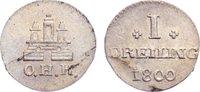 Dreiling 1800 Hamburg, Stadt  kl. Schrötlingsfehler, prägefrisch  35,00 EUR  zzgl. 3,50 EUR Versand