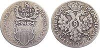 8 Schilling 1752 Lübeck, Stadt  fast sehr schön  30,00 EUR  zzgl. 3,50 EUR Versand