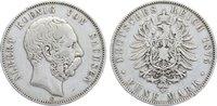 5 Mark 1875  E Sachsen Albert 1873-1902. kl. Randfehler, fast sehr schön  40,00 EUR  zzgl. 3,50 EUR Versand