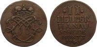 Cu 2 Heller 1745 Hanau-Münzenberg Wilhelm VIII. von Hessen-Kassel 1736-... 30,00 EUR  zzgl. 3,50 EUR Versand