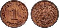 1 Pfennig 1892  A Kleinmünzen  min. Kratzer, vorzüglich - Stempelglanz  12,00 EUR  zzgl. 1,00 EUR Versand