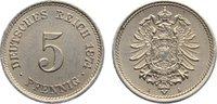 5 Pfennig 1874  A Kleinmünzen  fast vorzüglich  25,00 EUR  zzgl. 3,50 EUR Versand