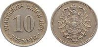 10 Pfennig 1876  B Kleinmünzen  sehr schön - vorzüglich  10,00 EUR  zzgl. 1,00 EUR Versand