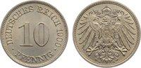 10 Pfennig 1900  A Kleinmünzen  fast Stempelglanz  20,00 EUR  zzgl. 3,50 EUR Versand