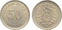 50 Pfennig 1876  J Kleinmünzen  kl. Randverprägung, fast vorzüglich  35,00 EUR  zzgl. 3,50 EUR Versand