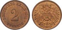 2 Pfennig 1913  J Kleinmünzen  min. Kratzer, vorzüglich - Stempelglanz  10,00 EUR  zzgl. 1,00 EUR Versand