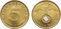 5 Reichspfennig 1939  F Drittes Reich Kursmünzen 1933-1945. vorzüglich ... 5,00 EUR  zzgl. 1,00 EUR Versand