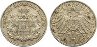2 Mark 1908  J Hamburg  sehr schön - vorzüglich  40,00 EUR  zzgl. 3,50 EUR Versand