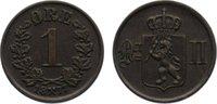 Cu 1 Öre 1 1877 Norwegen Oskar II. 1872-1905. fast vorzüglich  65,00 EUR  zzgl. 3,50 EUR Versand