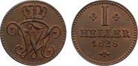 Cu Heller 1828 Hessen-Kassel Wilhelm II. 1821-1847. vorzüglich - Stempe... 80,00 EUR  zzgl. 3,50 EUR Versand