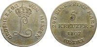 5 Kreuzer 1807 Hessen-Darmstadt Ludwig I. 1806-1830. fast sehr schön  45,00 EUR  zzgl. 3,50 EUR Versand