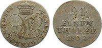 1/24 Taler 1802 Wallmoden-Gimborn Johann Ludwig 1782-1806. kl. Schrötli... 85,00 EUR  zzgl. 3,50 EUR Versand