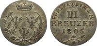 3 Kreuzer 1805  L Leiningen-Dagsburg Karl Friedrich Wilhelm 1756-1807. ... 50,00 EUR  zzgl. 3,50 EUR Versand