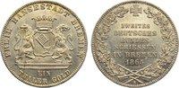 Taler 1865  B Bremen, Stadt  min. Kratzer, vorzüglich - Stempelglanz  135,00 EUR  zzgl. 3,50 EUR Versand