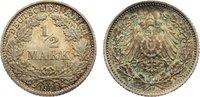 1/2 Mark 1906  D Kleinmünzen  Polierte Platte  95,00 EUR  zzgl. 3,50 EUR Versand