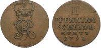 Cu 2 Pfennig 1794 Braunschweig-Calenberg-Hannover, ab 1692 Kftm. Han Ge... 15,00 EUR  zzgl. 1,00 EUR Versand