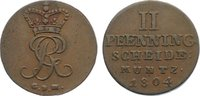 Cu 2 Pfennig 1804 Braunschweig-Calenberg-Hannover, ab 1692 Kftm. Han Ge... 20,00 EUR  zzgl. 3,50 EUR Versand