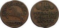 Cu 1 1/2 Pfennig 1703 Braunschweig-Lüneburg-Celle Georg Wilhelm 1665-17... 20,00 EUR  zzgl. 3,50 EUR Versand