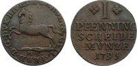 Cu Pfennig 1795  MC Braunschweig-Wolfenbüttel Karl Wilhelm Ferdinand 17... 15,00 EUR  zzgl. 1,00 EUR Versand