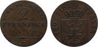 Cu 2 Pfennig 1830  D Brandenburg-Preußen Friedrich Wilhelm III. 1797-18... 25,00 EUR  zzgl. 3,50 EUR Versand