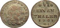 1/6 Taler 1761  DL Pommern-unter schwedischer Besetzung Adolph Friedric... 60,00 EUR  zzgl. 3,50 EUR Versand