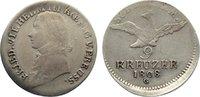 9 Kreuzer 1808  G Brandenburg-Preußen Friedrich Wilhelm III. 1797-1840.... 110,00 EUR  zzgl. 3,50 EUR Versand