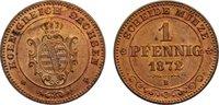 Cu 1 Pfennig 1872  B Sachsen-Albertinische Linie Johann 1854-1873. leic... 45,00 EUR  zzgl. 3,50 EUR Versand