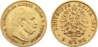 5 Mark 1877  C Preußen Wilhelm I. 1861-1888. Gold, Avers kl. Kratzer, s... 285,00 EUR  zzgl. 3,50 EUR Versand
