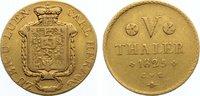5 Taler 1825 Braunschweig-Wolfenbüttel Karl 1815-1830. Gold, selten, le... 1200,00 EUR kostenloser Versand