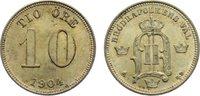 10 Öre 1 1904  EB Schweden Oskar II. 1872-1907. kl. Kratzer, vorzüglich... 25,00 EUR  zzgl. 3,50 EUR Versand