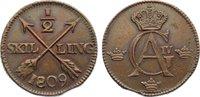 Cu 1/2 Skilling 1809 Schweden Gustav IV. Adolf 1792-1809. kl. Zainende,... 20,00 EUR  zzgl. 3,50 EUR Versand