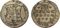 4 Pfennig 1767 Anhalt-Zerbst Friedrich August 1747-1793. kl. Randfehler... 75,00 EUR  +  4,50 EUR shipping