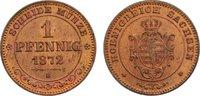 Cu 1 Pfennig 1872  B Sachsen-Albertinische Linie Johann 1854-1873. fast... 45,00 EUR  zzgl. 3,50 EUR Versand