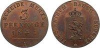 Cu 3 Pfennig 1841  A Reuss, jüngere Linie zu Schleiz Heinrich LXII. 181... 150,00 EUR  zzgl. 3,50 EUR Versand