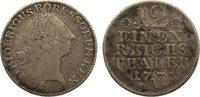 1/12 Taler 1771  A Brandenburg-Preußen Friedrich II. 1740-1786. fast se... 35,00 EUR  zzgl. 3,50 EUR Versand