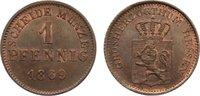 Cu Pfennig 1869 Hessen-Darmstadt Ludwig III. 1848-1877. vorzüglich - St... 25,00 EUR  zzgl. 3,50 EUR Versand
