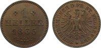 Cu Heller 1865 Frankfurt, Stadt  Patina, kl. Randfehler, fast Stempelgl... 25,00 EUR  zzgl. 3,50 EUR Versand