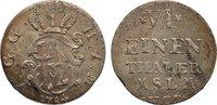 1/6 Taler 1754 Mecklenburg-Strelitz Adolf Friedrich IV. 1752-1794. winz... 30,00 EUR  zzgl. 3,50 EUR Versand