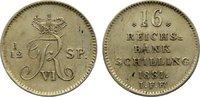 16 Reichsbankschilling 1831 Schleswig-Holstein, Königliche Linie Friedr... 70,00 EUR  zzgl. 3,50 EUR Versand