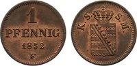 Cu Pfennig 1852  F Sachsen-Albertinische Linie Friedrich August II. 183... 25,00 EUR  zzgl. 3,50 EUR Versand
