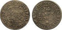 1/24 Taler 1763 Sachsen-Albertinische Linie Friedrich August II. 1733-1... 15,00 EUR  zzgl. 1,00 EUR Versand