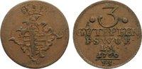 Cu 3 Gute Pfennig 1760  FS Sachsen-Weimar-Eisenach Anna Amalia 1758-177... 25,00 EUR  zzgl. 3,50 EUR Versand