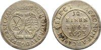 1/12 Taler 1693 Sachsen-Albertinische Linie Johann Georg IV. 1691-1694.... 20,00 EUR  zzgl. 3,50 EUR Versand